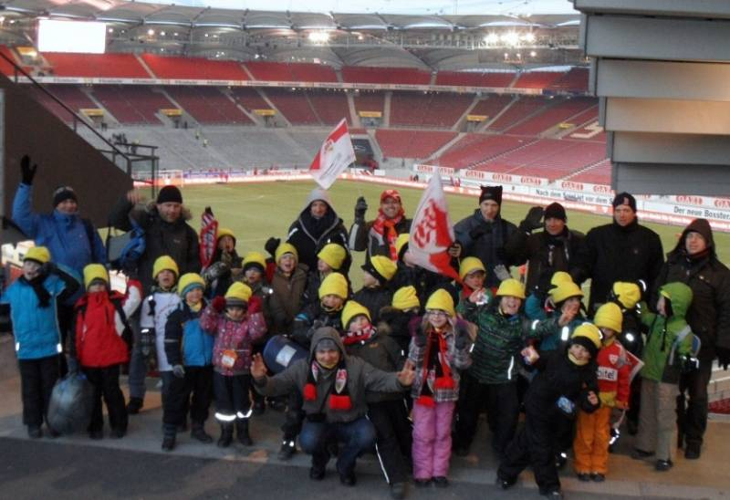Ausflug der F1+F2 Junioren zum Bundesligaspiel VFB Stuttgart – Hertha BSC Berlin