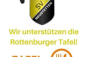 Der SVN unterstützt die Rottenburger Tafel!